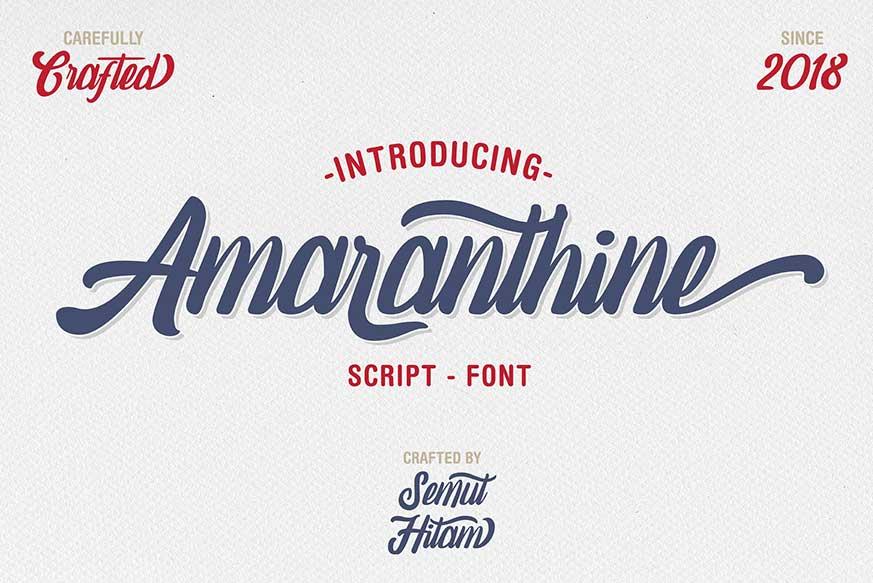 Amaranthine Script Font