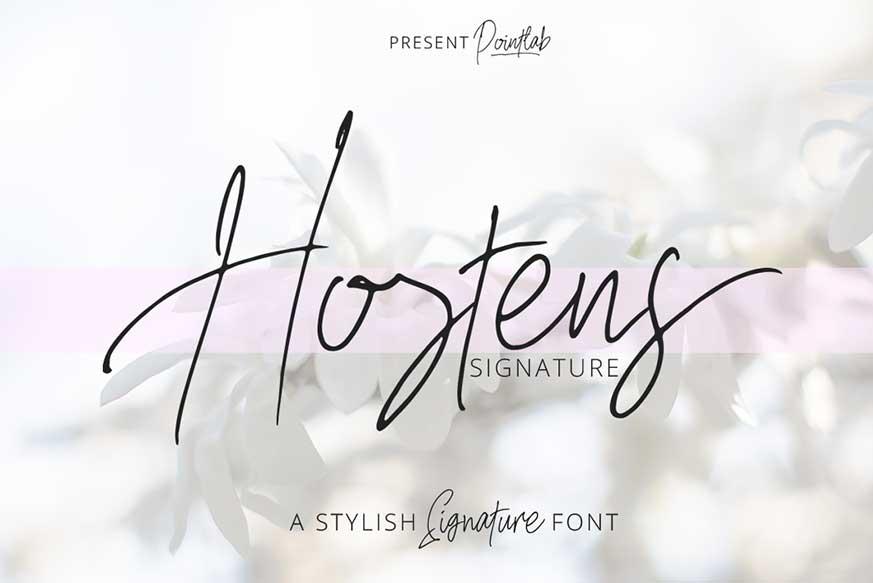 Hostens Signature Font
