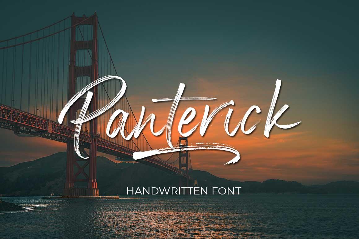 Panterick Handwritten Font