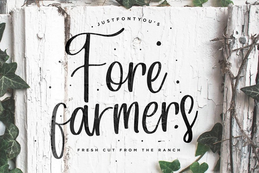 Forefarmers - Rustic Casual Vintage – Download Free Fonts