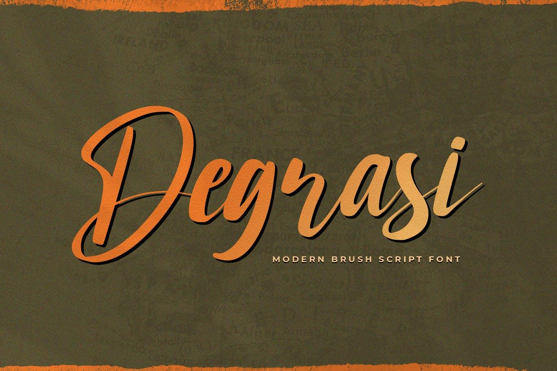 Degrasi - Brush Script Font