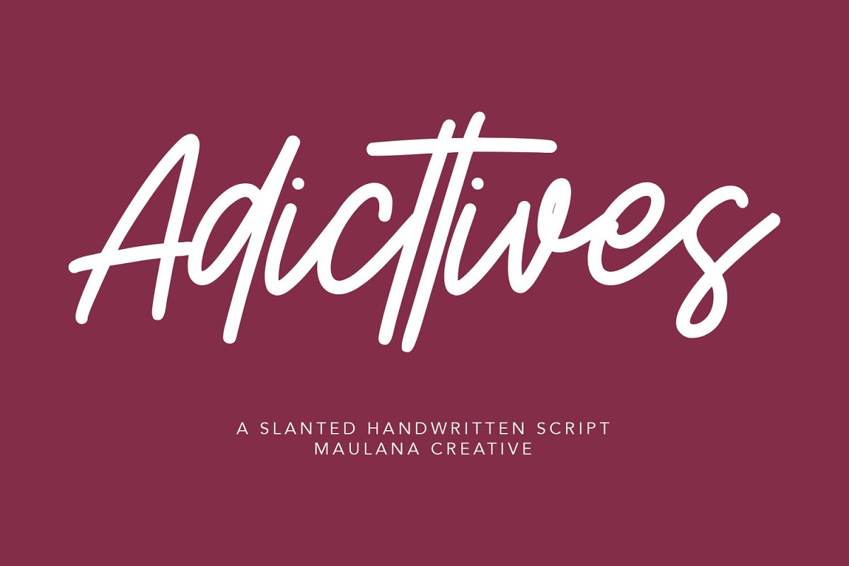 Adicttives Slanted Handwritten