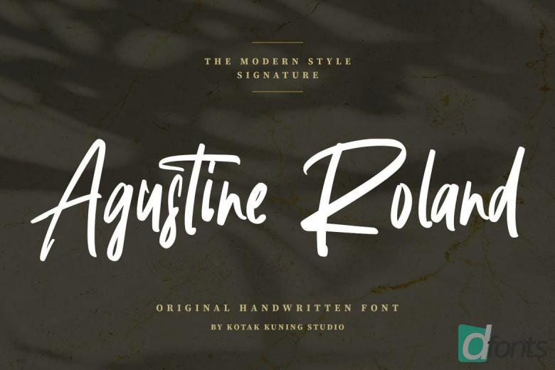 Agustine Roland - Signature Handwritten Font