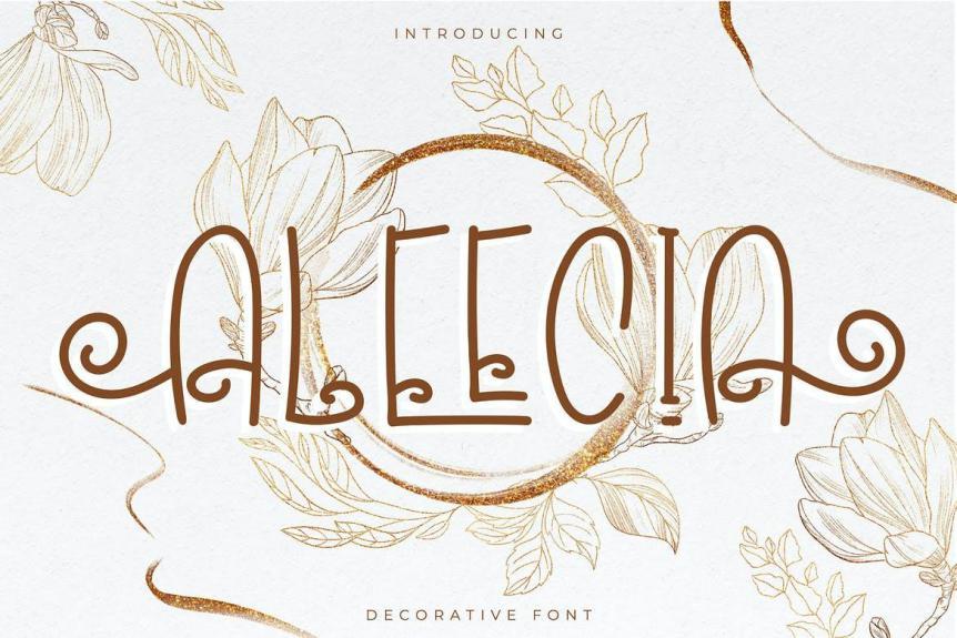 Aleecia   Decorative Font