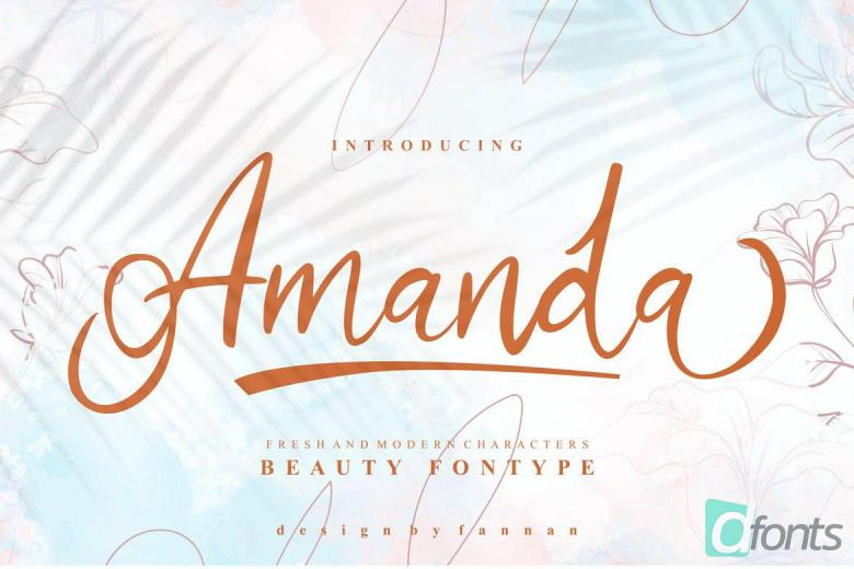Amanda Beauty Font