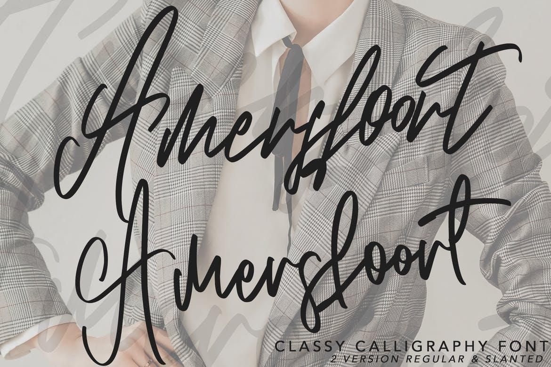 Amersfoort Calligraphy Font