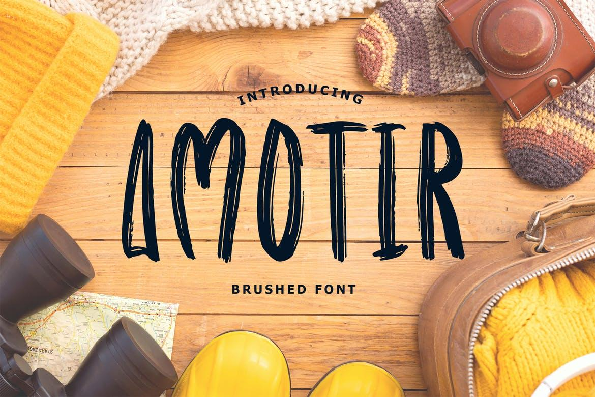 Amotir Bold Brush Display Font
