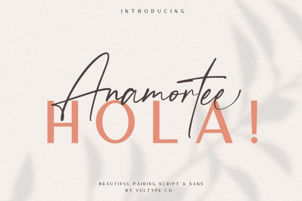 Anamortee Font Duo