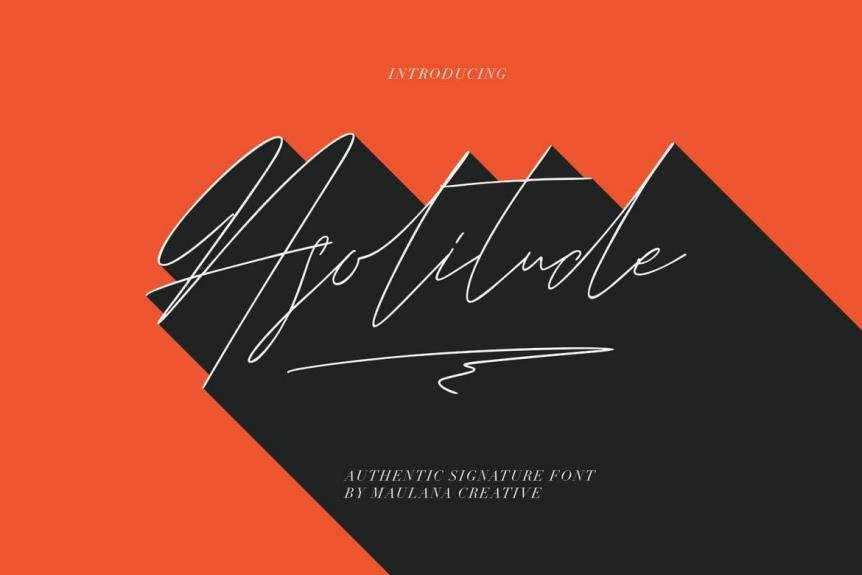 Asolitude Authentic Signature Font