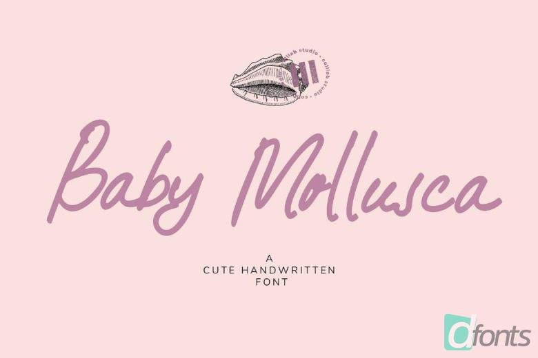 Baby Mollusca Font