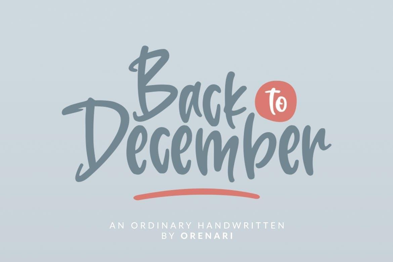 Back To December Font