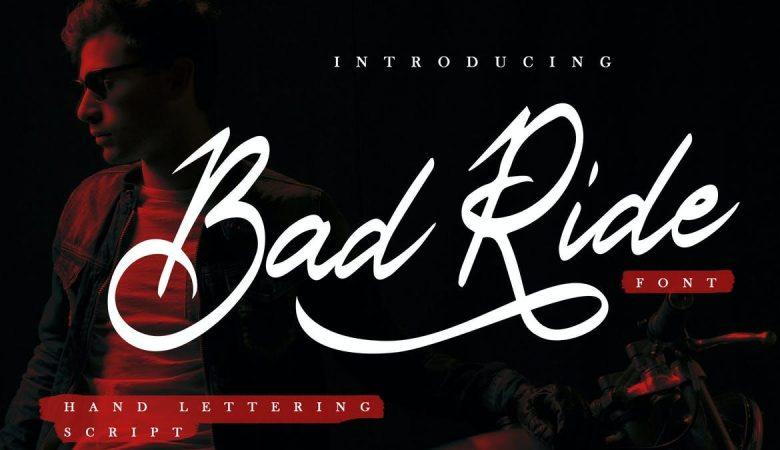 Bad Ride - Handlettering Script