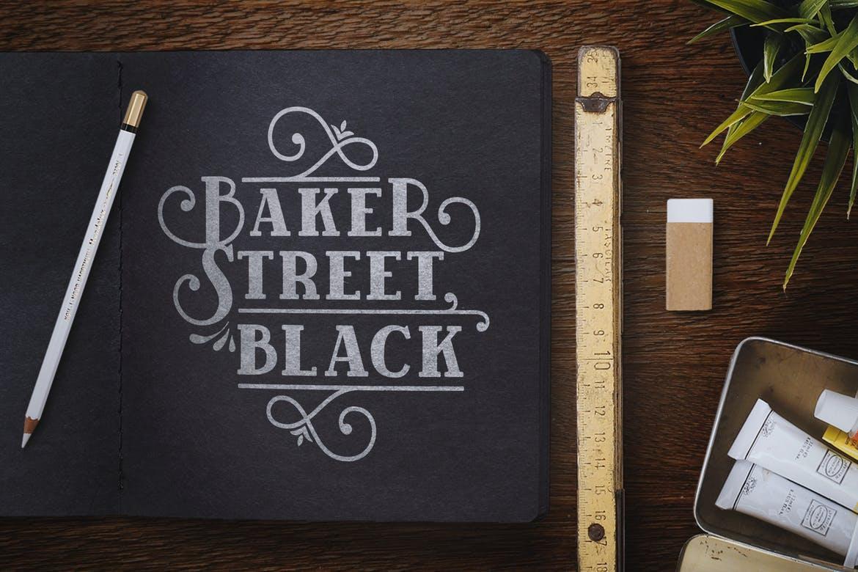 BakerStreet Black Font