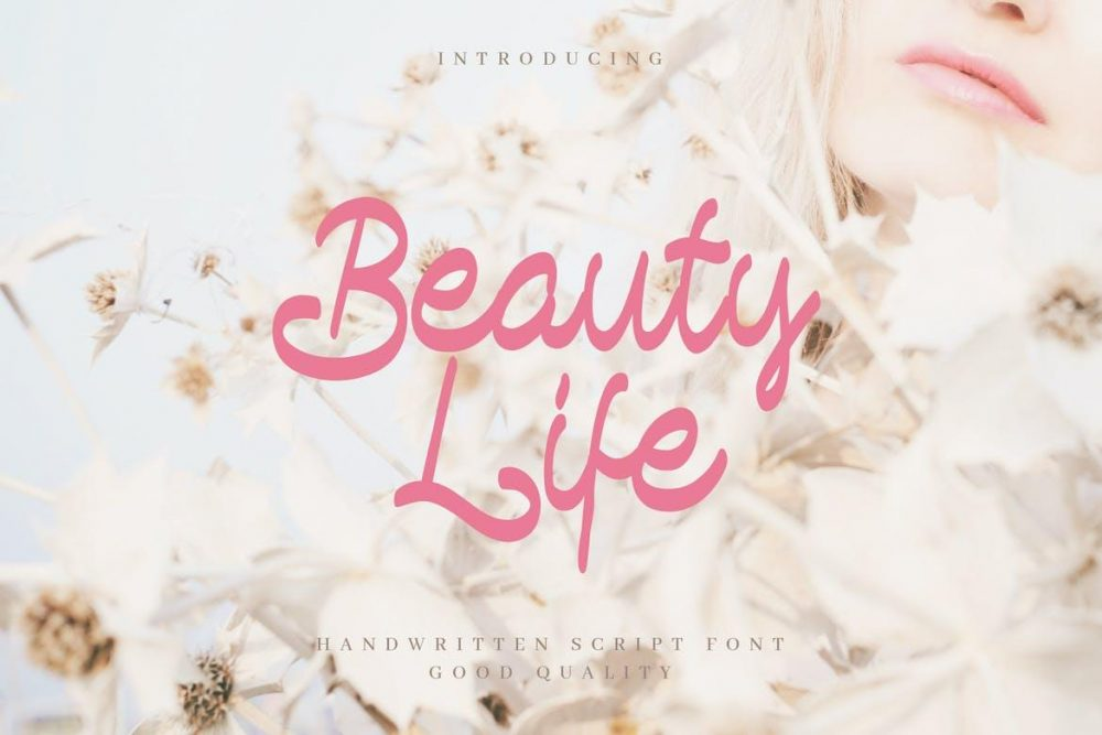 Beauty Life - Romantic Handwritten Script