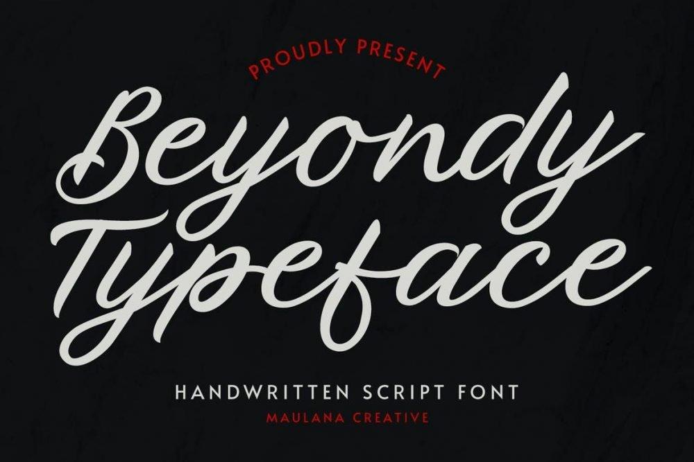 Beyondy Handwritten Script Typeface