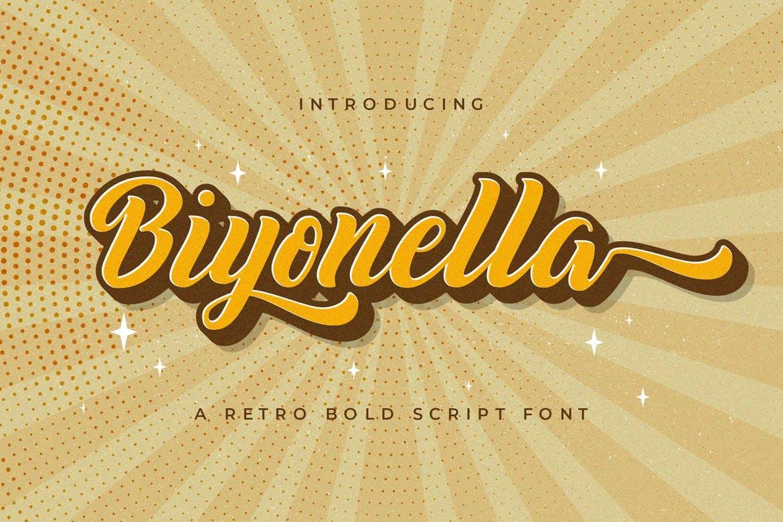 Biyonella - Retro Bold Script Font