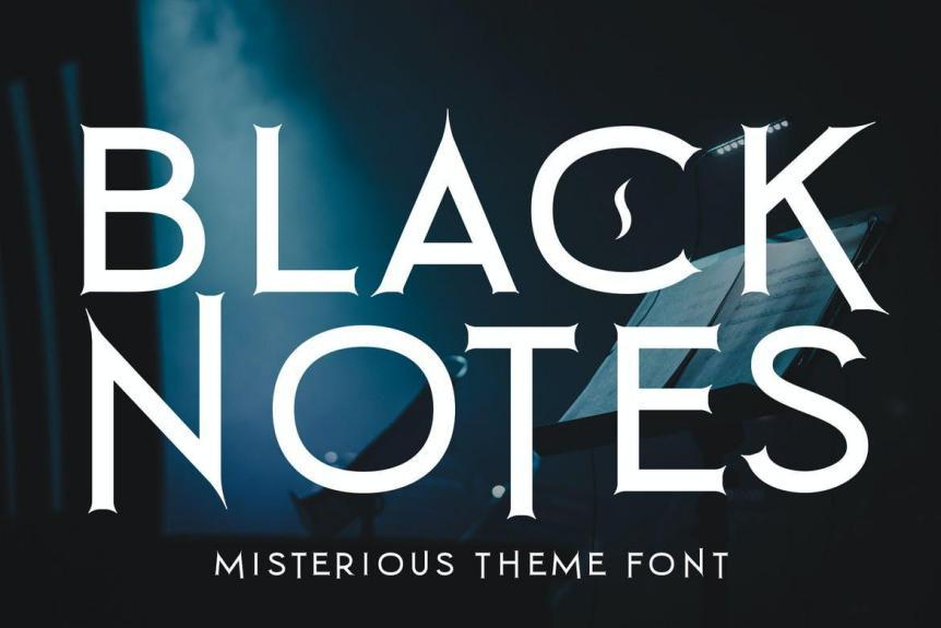 Black Notes Font