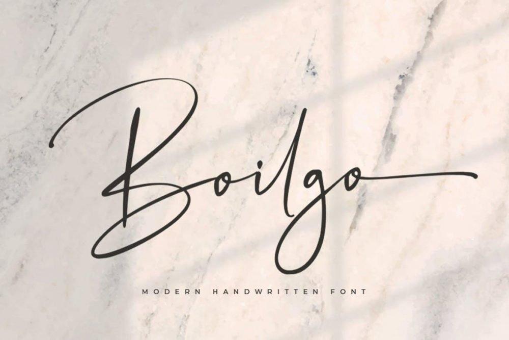 Boilgo Signature Font
