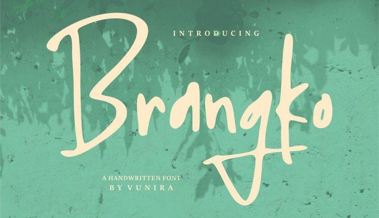 Brangko A Handwritten Font
