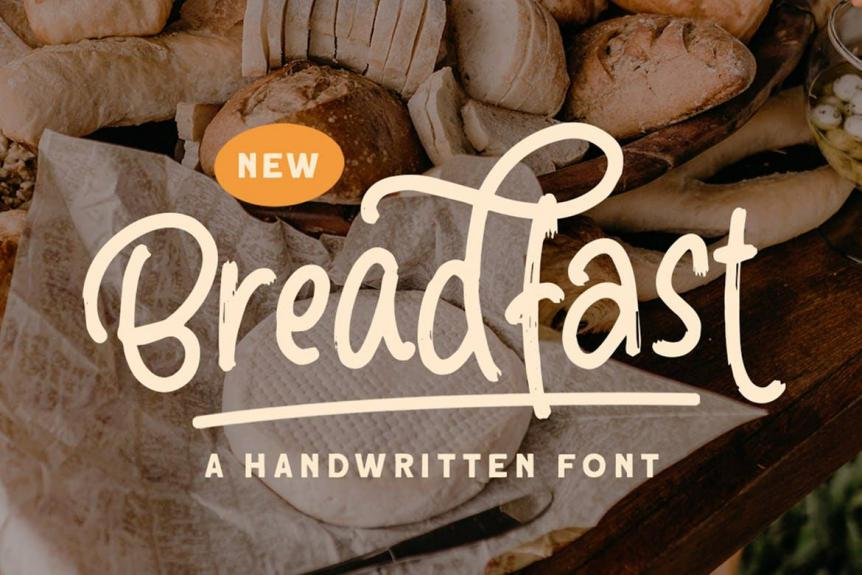 Breadfast - a Handwritten Font