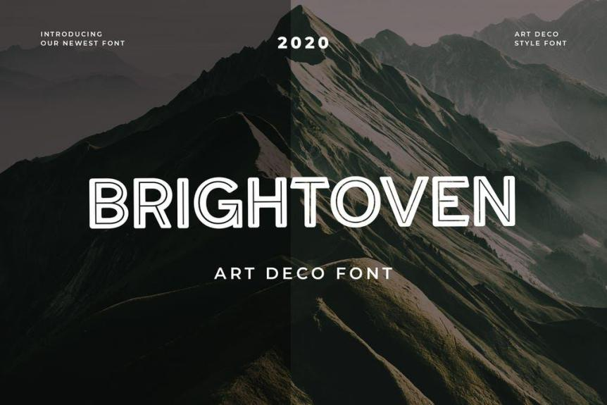 Brightoven Display Font