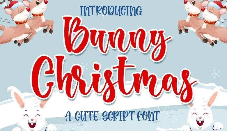 Bunny Christmas Cute Script Font