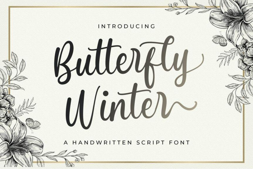 Butterfly Winter - Handwritten Font