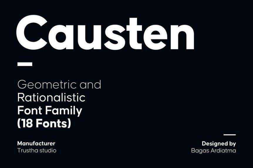 Causten Font Family