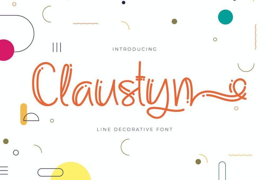 Claustyn | Line Decorative Font