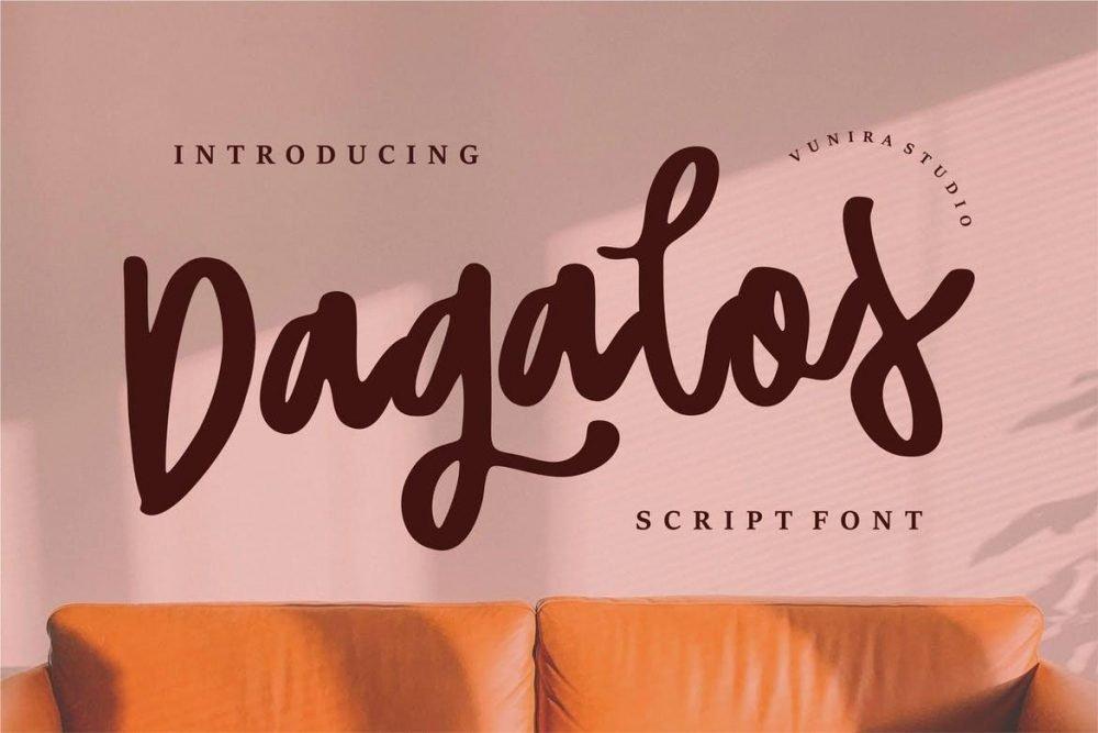 Dagalos | Script Font