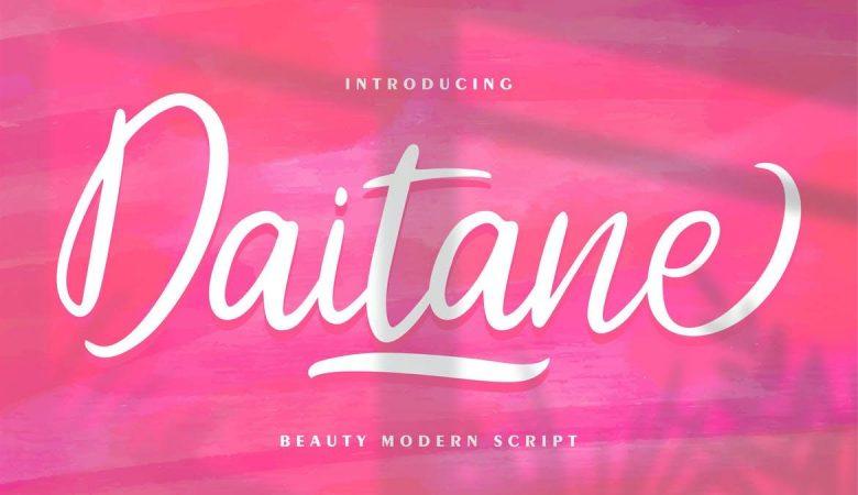 Daitane | Beauty Modern Script