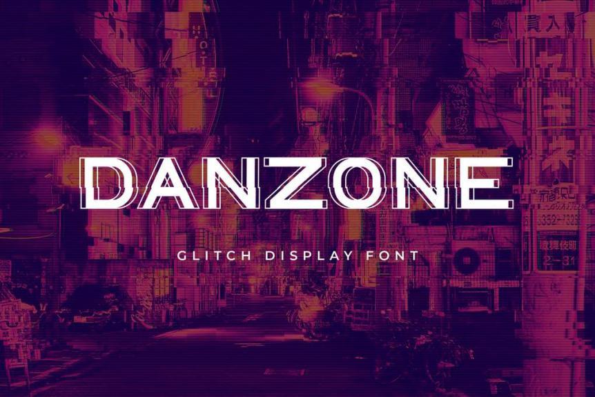 Danzone Display Font