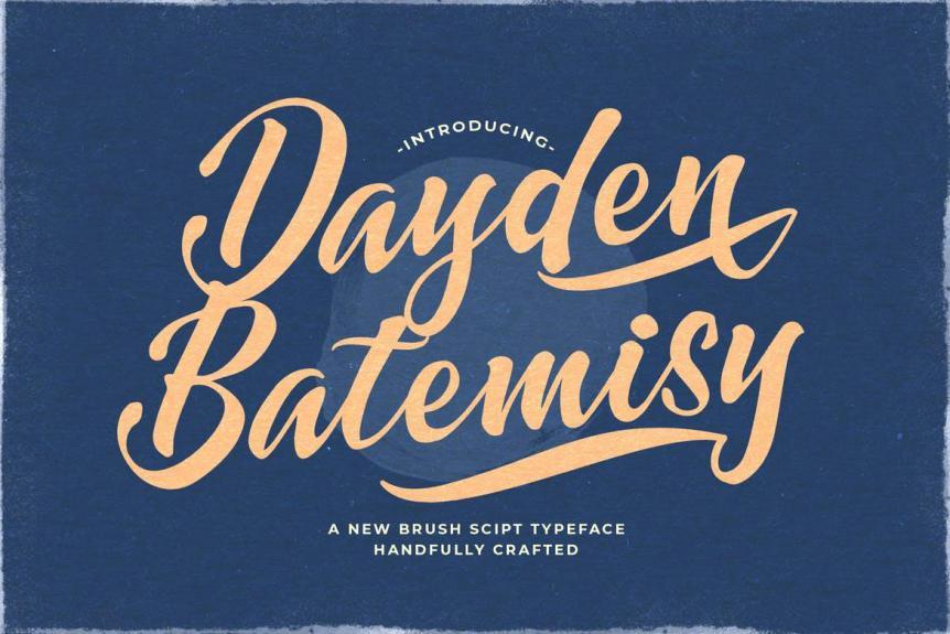 Dayden Batemisy - Brush Script Font