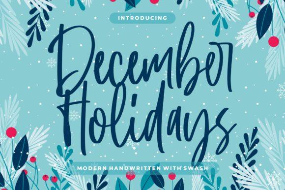 December Holidays Font