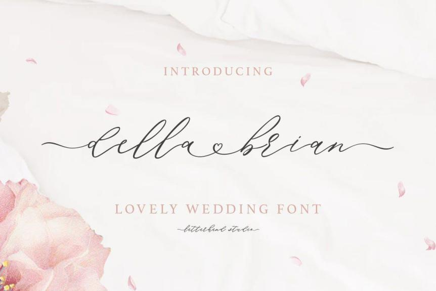 Della Brian - Lovely Wedding Font