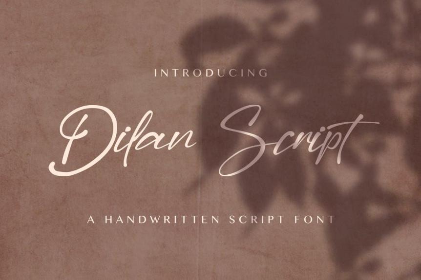 Dilan Script - Modern Script Font