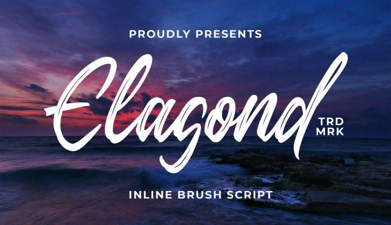 Elagond – Inline Brush Script