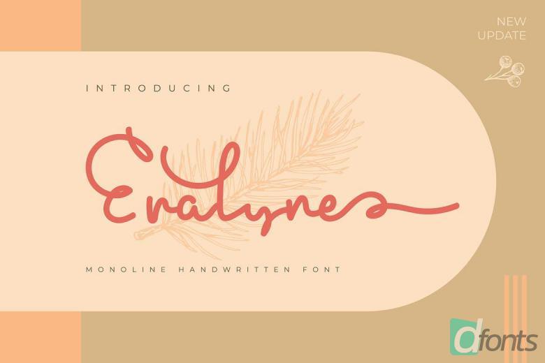 Eralyne | Monoline Handwritten Font