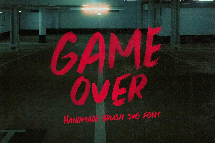 Game Over Brush & SVG Font
