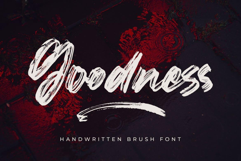 Goodness - Handwritten Brush Font