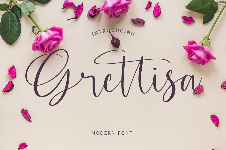 Grettisa Modern Font