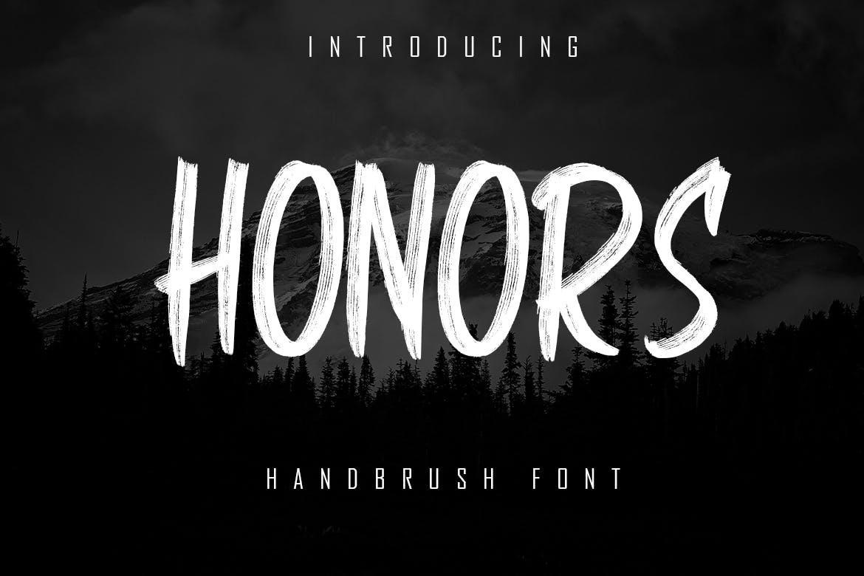 HONORS - Handbrush Font