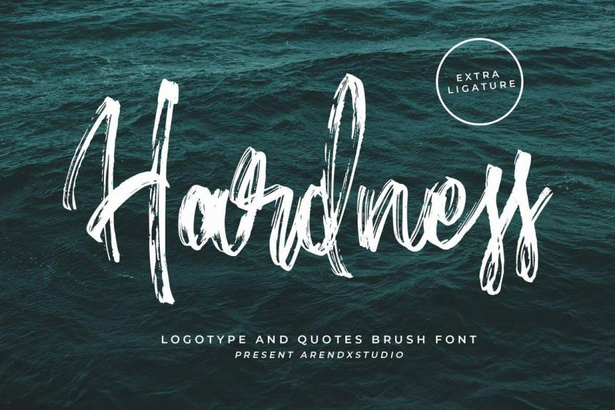 Hardness - Brush Script Font
