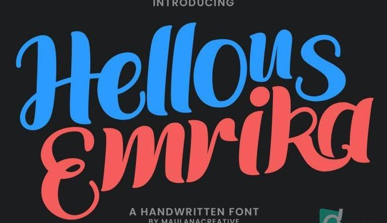 Hellous Emrika Handwritten Font