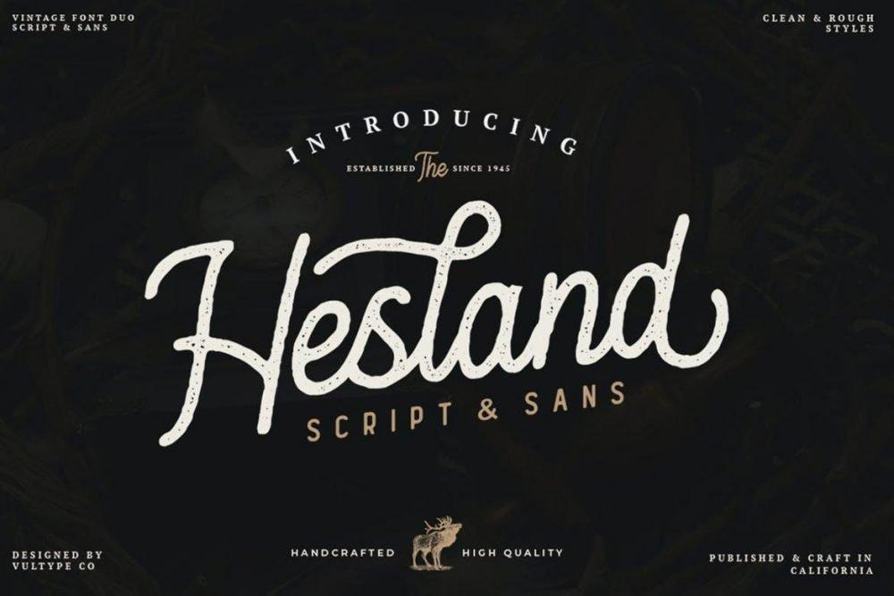 Hesland Vintage Font