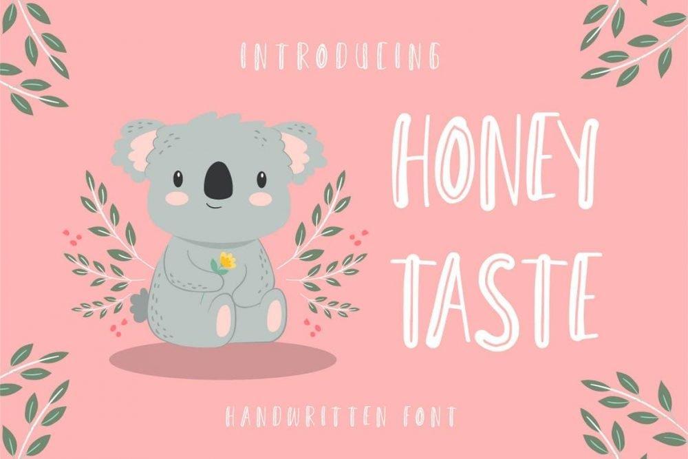 Honey Taste - Cute Handwritten Font