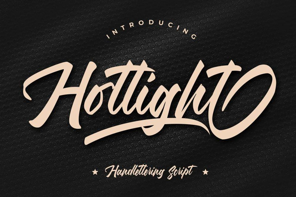 Hotlight Handlettering Script