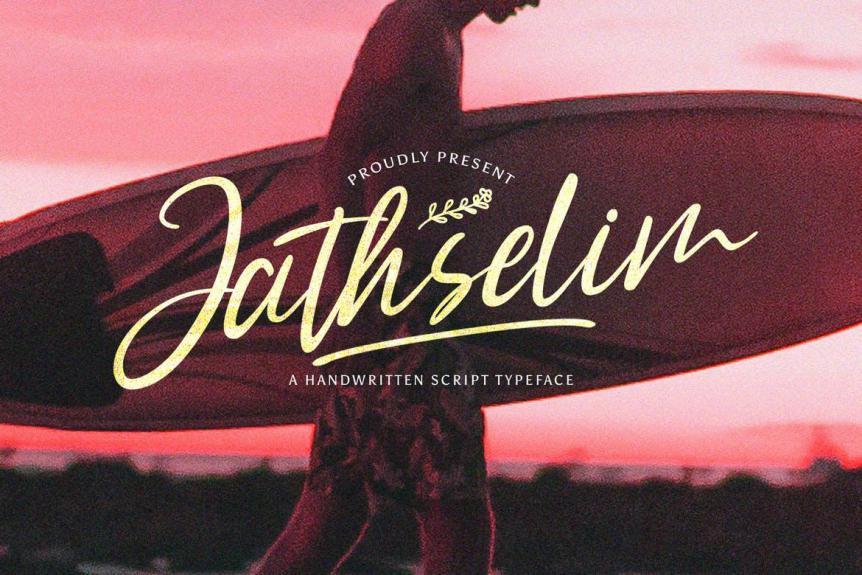 Jathselim - Handwritten Font