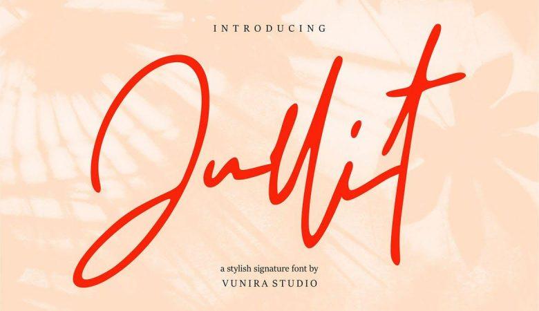 Jullit | Stylish Signature Font