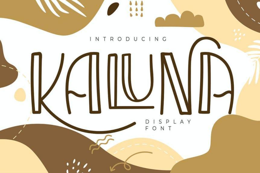 Kaluna Display Font